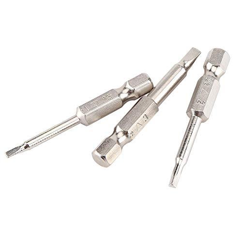 """5pcs Dreieck Schraubendreher, 50mm 1/4\"""" Hex Schaft Magnetischer Dreieck Kopf Schraubendreher Bits 1.8 2.0 2.3 2.7 3.0mm S2 Hardware-Tool BI211"""