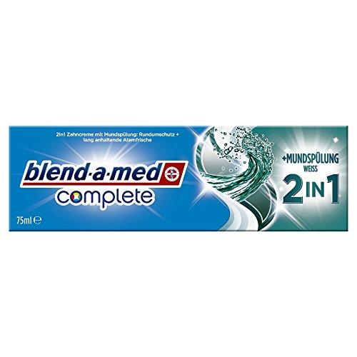 Blend-a-med Complete 2in1 plus Mundspülung Weiß Zahncreme, 75 ml