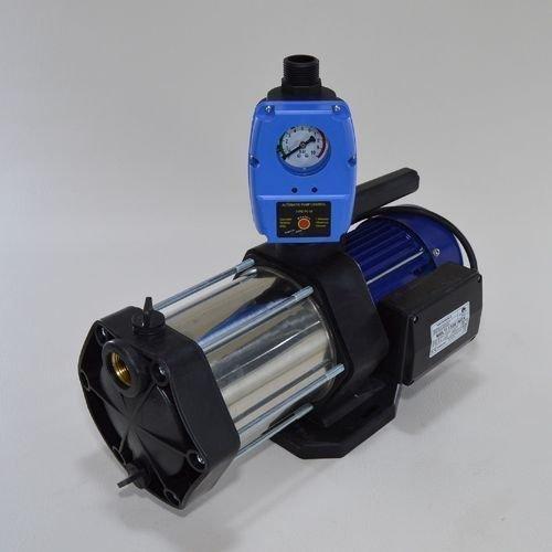 Gartenpumpe Kreiselpumpe Multi 1300 INOX 1300Watt 5-stufig Edelstahl mit integrierten thermischen Schutzschalter. Fördermenge: 5400l/h + Steuerung (Trockenlaufschutz) + Rückschlagventil. (Differenzdruck-steuerung)