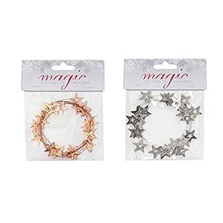 Inge-Glas-Metallgirlande-Sterne-2m-lang-2cm-Durchm-Silber-Kupfer-Weihnachten-Girlande