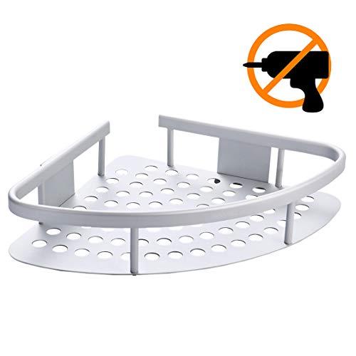 Wangel Eckablage Duschkorb Duschablagen Ohne Bohren für Bad, Patentierter Kleber + Selbstklebender 3M-Kleber, Aluminium, Oxidierte Oberfläche, Badregal