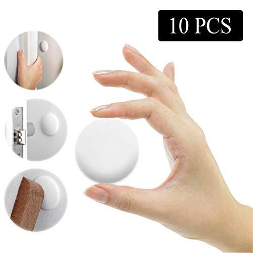 OMIGAO Türstopper Wandschutz, Türpuffer, Silikon-Wandschutz, Türknaufschutz mit selbstklebendem Aufkleber, geeignet für Türgriffe, Kühlschranktüren, Schränke (3,8 cm, weiß, 10 Stück)