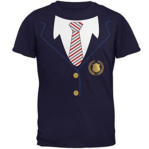 Halloween-American School Girl Kostüm Herren-T-Shirt Marine (Private School Kostüm)