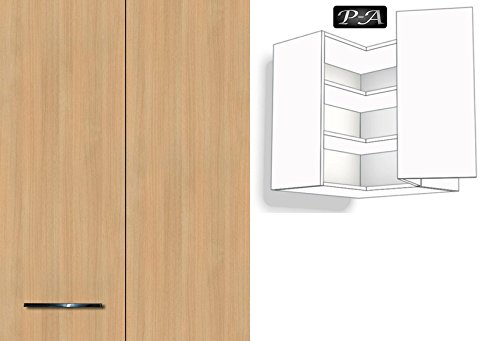 Küchenschrank Hängeschrank Eckschrank 2 Fachböden 60cm breit 72cm ... | {Kücheneckschrank hoch 55}