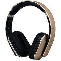 August EP650 Bluetooth v4.2 NFC Kopfhörer mit aptX Low Latency - Kabellose Over-Ear Headphones mit individuellem Sound (gold)