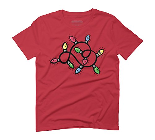 Christmas Lights Men's Graphic T-Shirt - Design By Humans Red