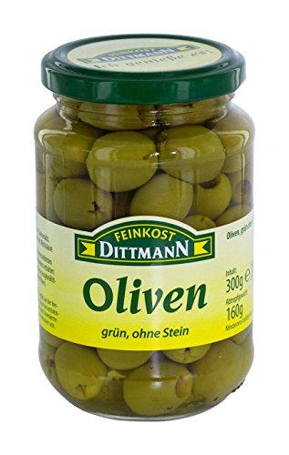 Feinkost Dittmann Oliven, grün ohne Stein, 160 g