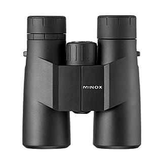 MINOX BF 10x42 Fernglas - Universal-Fernglas in Schwarz zur Tierbeobachtung mit 1,2m Nahbereich - Inkl. Trageriemen und Bereitschaftstasche