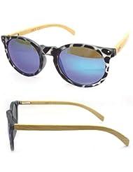 IRIS GLASS/ lunettes de soleil unisex, un design exclusif VINTAGE, jambes de bambou, 100% Protection UV 400