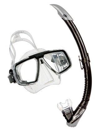 Aqualung Schnorchelset bestehend aus Maske Look und Schnorchel Zephyr (Farbe: schwarz) -