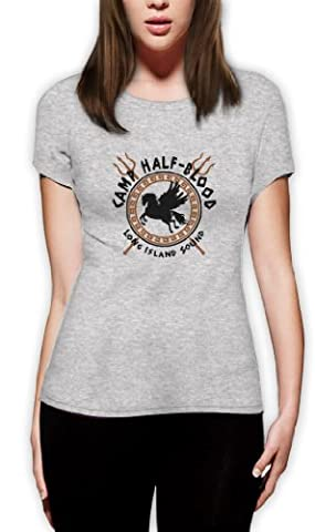 Camp Half Blood Gods Frauen Grau Small T-Shirt Slim