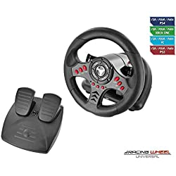 Subsonic - Volant Racing Wheel Universal avec pédalier pour Playstation 4 - PS4 Slim - PS4 Pro - Xbox One - Xbox one S - PC - PS3