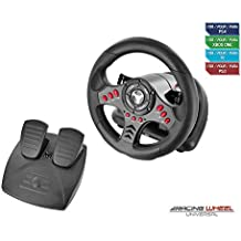 Subsonic - Volante Racing Wheel Universal, Paletas Para Cambio Y Pedales (PS4, PS4