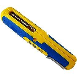 S&R Dénudeur Pince à dénuder de précision, câble 10-20 AWG, SAT / RG6 et RG59, câble basse tension universel 8-13mm, outil de dégainage.
