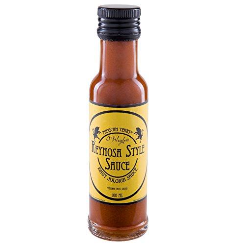 Mexican Tears® - Bhut Jolokia Sauce 'Reynosa Style' - scharfe Sauce aus Bhut Jolokia-Chilis - mit die schärfsten Chilis der Welt! [100ml Chilisauce]