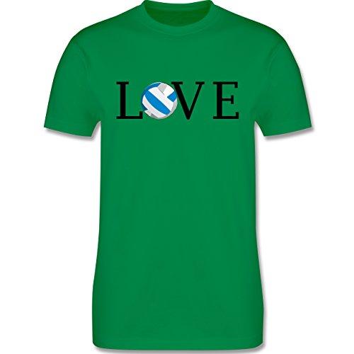 Volleyball - Volleyball Liebe Love - Herren Premium T-Shirt Grün