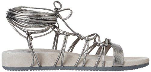 Unisa Cieno_lmt, Sandales Compensées Pour Femmes Gris (acier)