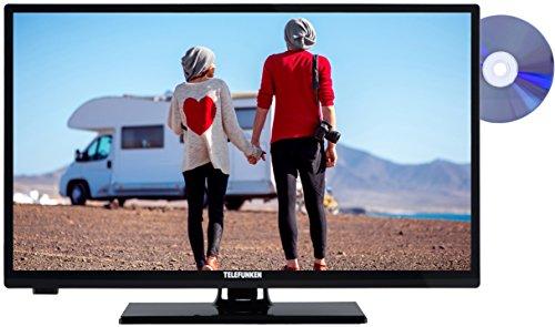 Telefunken XH24A101VD 61 cm (24 Zoll) Fernseher (HD Ready, Triple Tuner, DVD-Player, 12V-Anschluss) schwarz