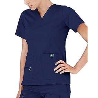 Adar Medical Uniforms Indulgenc Jr. Fit Enhanced V-Neck Hospital Nurse Scrub Top - 4212 - Navy - XS