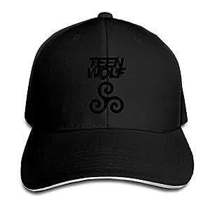 Hittings Teen Wolf Logo Sandwich Peaked Hat/cap Black