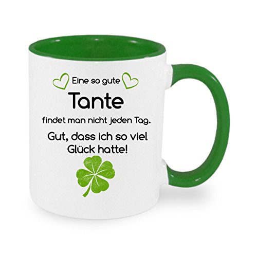 Eine so gute TANTE findet man nicht... - Kaffeetasse mit Motiv, bedruckte Tasse mit Sprüchen oder Bildern - auch individuelle Gestaltung nach Kundenwunsch