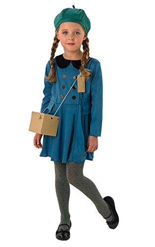 Evacuee Girl Kostüm Mädchen groß (Evacuee Kostüm Mädchen)