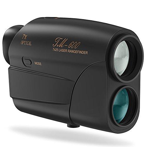 Golf Entfernungsmesser Golf Golf Rangefinder Hunting Rangefinder, Fnova 5 ~ 600 Meter Reichweite 6-Fache Vergrößerung für Golf und Jagd Bogensport Entfernungsmessgerät(Schwarz)