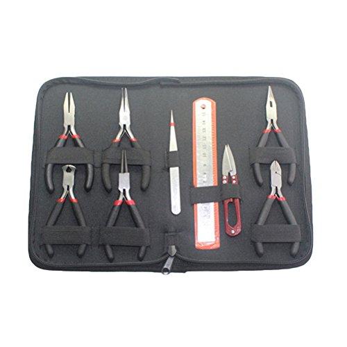 BESTOMZ Mini Zangen Werkzeuge Scheren Set zur Schmuckherstellung Perlenstickerei mit Tasche