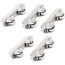 Sourcingmap a14061000ux0743-5 unidades de la rueda de tono plata armario corredera de rodillos de