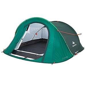 QUECHUA 2SECONDS Easy Pop-Up Tent 3Pop-Up Play Tent, Dunkelgrün (New Green)
