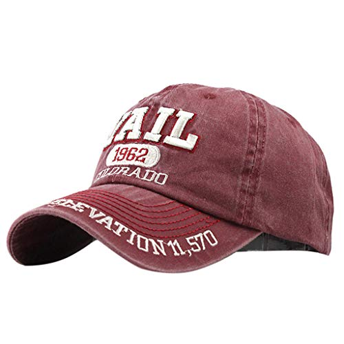 NINGSANJIN Unisex Baumwolle Casual Embroidered Denim Letter Hüte Mode Baseball Kappe Topee