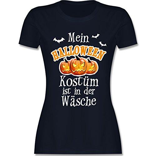 Halloween - Mein Halloween Kostüm ist in der Wäsche - tailliertes Premium T-Shirt mit Rundhalsausschnitt für Damen Navy Blau