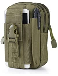 ArmyGreen : Outdoor Military Tactical Belt Waist Bags Waterproof Mobile Phone Wallet Travel Sport Waist Pack Camping...