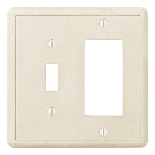 questech dekorativen elfenbeinfarbenen-/Switch Plate/Auslass, Single Toggle/Single Decorator GFCI Combination elfenbeinfarben (Light Switch Wall Plate)