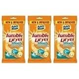 3 Packs of 40 Tumble Dryer Sheets,Conditions,Softens & Freshens by Fabric Magic