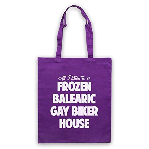 Congelato Balearic Gay Biker Casa Di Nicchia Musica Da Ballo Umhangetaschen Violett