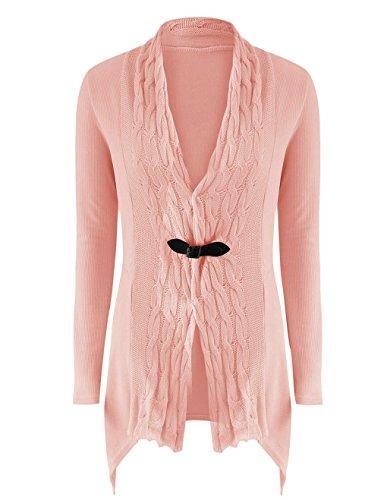 LemonGirl Capispalla giacca maglione cardigan moda donna Pink
