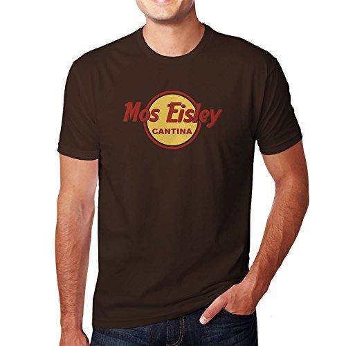 Mos Eisley Cantina - Herren T-Shirt, Größe: M, Farbe: braun