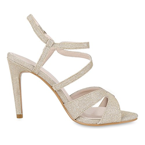 napoli-fashion , Sandales Bout ouvert femme Or
