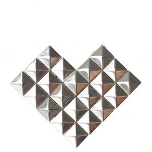 Preisvergleich Produktbild *900 St. Gratis* 1000 Stück 10 x 10 mm Pyramidennieten Pyramiden Nieten Ziernieten Gothic Punk Basteln DIY Silber