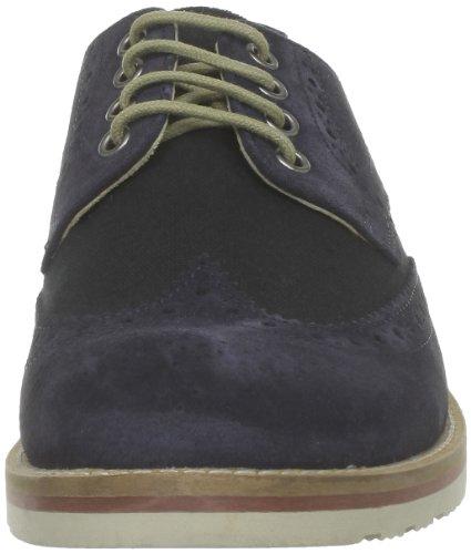 Base London Bowling, Chaussures de ville homme Bleu (Suede Navy)