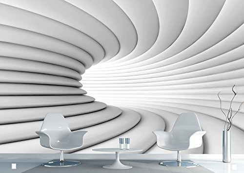 AG Design Fototapete FTNxxl2417, Kreativ Tunnel, - Wand Farbe Leuchtende