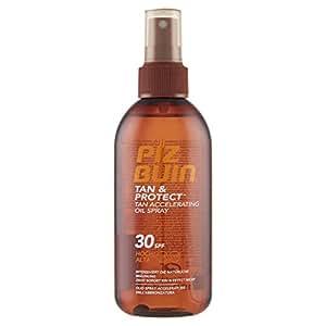 PIZ BUIN Tan & Protect Tan Accelerating Oil Spray LSF 30 – Bräunungsbeschleunigendes Sonnen Öl Spray für eine schnellere, natürliche Bräune mit effektivem Schutz – 150ml