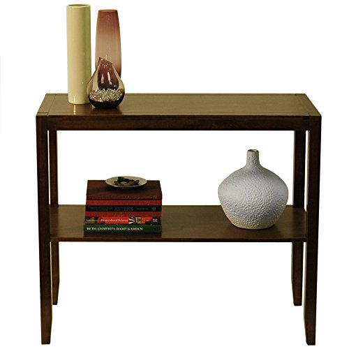 ANYWHERE - Solid Wood Console / Side / Hallway Table - Walnut Effect