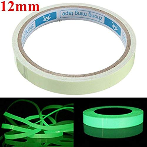 ChaRLes Auto-Adhesivo Verde Luminoso Cinta Impermeable