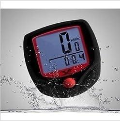 Electomania 15 Function Waterproof Bicycle Computer Odometer Speedometer