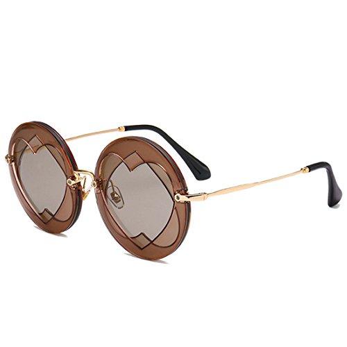 GUO Die Sonnenbrille Bold Street Fashion Liebe Sonnenbrille zu schießen, D.