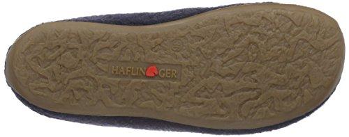 Haflinger Christall, Pantofole basse Unisex – adulto Blu (Blau (79 kapitän))