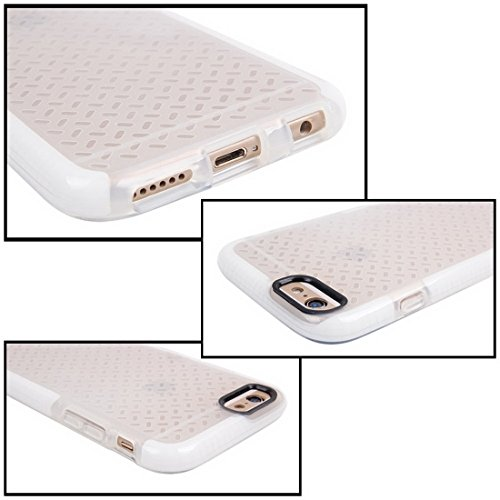 Phone case & Hülle Für iPhone 6 Plus / 6s Plus, Reiskorn Pattern TPU Schutzhülle ( Color : Blue ) White