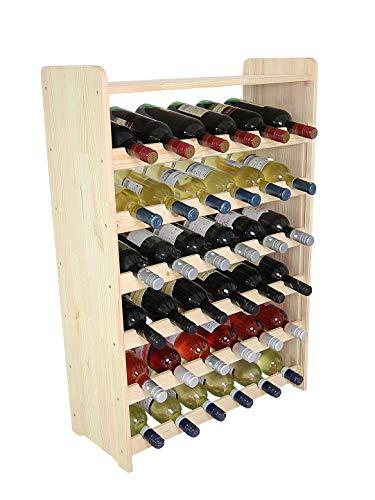 Len Mar.de Weinregal Weinregal Holz Flaschenregal für 36 + Ablage Flaschen RW-3-36p